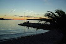 Sonnenuntergang bei Loviste, Halbinsel Peljesac