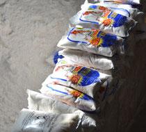 Salzverarbeitung, Colchani, Salar de Uyuni, Bolivien