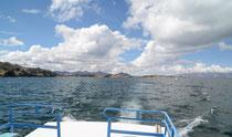 Fahrt zur Isla del Sol, Lago Titicaca, Bolivien