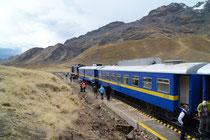 Zwischenhalt auf dem Pass La Raya, Peru