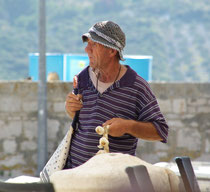 Knoblauchverkäufer auf Brac