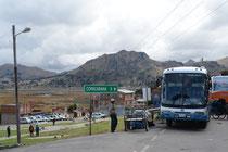 Grenzübergang Bolivien - Peru