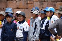 Schulkinder, Ruinen von Tiwanaku
