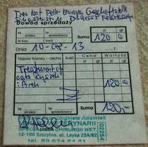 medizinische Versorgung Rysiek und Arek  - 30 Euro gespendet von Heidi Karl-Kotzbauer