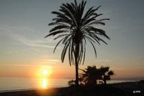 coucher de soleil à Torrox
