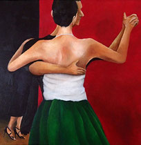 Tango3 : 300×300mm Canvas Oil 2014