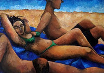 Beach : F4 Canvas Oil 2013