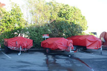 Oil Spill Recovery Trailers, Port Nelson, New Zealand