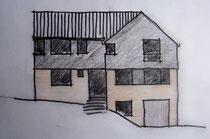 zum Wurmtal: Aufstockung des Wohnhauses, Entwurfskizze