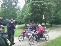 Fun2Go und Easy Rider bei den Dreharbeiten
