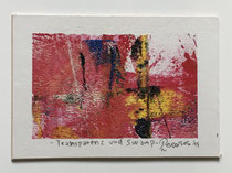 Transparenz und Swamp, 2015, 10 x 7 cm