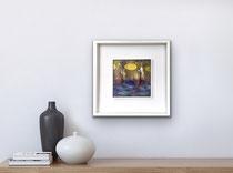 Ritorno e giallo di passaggio, 2018, 20 x 20 cm (cornice bianca 40 x 40 cm)