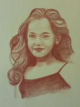 Mit Rötel gezeichnet (60 x 80 cm)