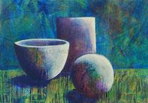 Stillleben, 40,5 x 30 cm, Acryl auf Papier