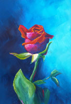 Rose, 40,5 x 30 cm, Acryl auf Papier