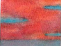 夕空     2003 水彩、紙 165mmx200mm 個人蔵
