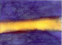 夜と光     2003 水彩、紙 160mmx200mm 個人蔵