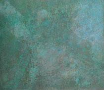 アスファルト  2013 腐食絵の具 油彩 板 520mmx450mm 作家蔵