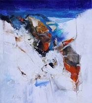 Sanfte Tiefe, Acryl auf Leinwand, 60x60