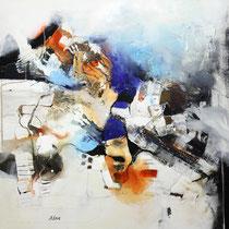 Gedanken wandern, Acryl auf Leinwand, 90x90