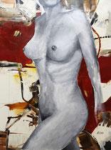Torso, Acryl auf Leinwand,100x120