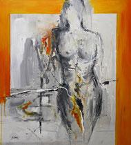 Akt, Acryl auf Leinwand, 100x110