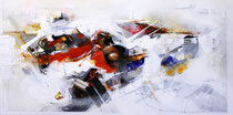Kaskade des Lebens II, Acryl auf Leinwand, 100x50