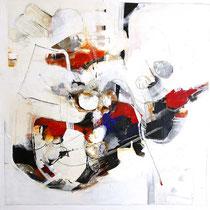 o.T. Acryl auf Leinwand, 100x100