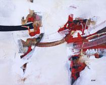 Rot schwingt, Acryl auf Leinwand, 100x80
