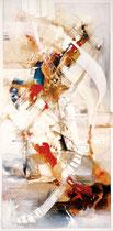 Aufwind, Acryl auf Leinwand, 50x100