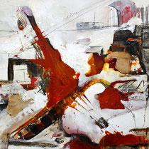 Komposition,   Acryl auf Leinwand, 60x60