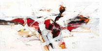 Verbundenheit, Acryl auf Leinwand, 120x60