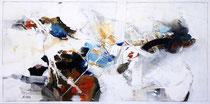Kaskade des Lebens, Acryl auf Leinwand, 100x50