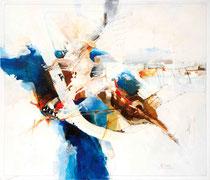 Der Musikant, Acryl auf Leinwand, 70x60