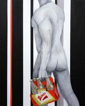 Sixpack, Acryl auf Leinwand, 80x100