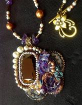 Moka à la violette (cristal Swarovski)