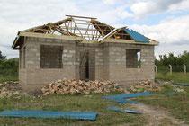 "das erste ""Njumba Mteja"" (Klientenhaus) bei unserer Ankunft in Lugoba"