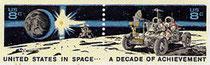 Le Lunar Rover Vehicule d'Apollo 15 sur la Lune