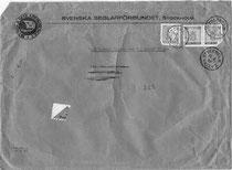 Der orginale Briefumschlag von 1956