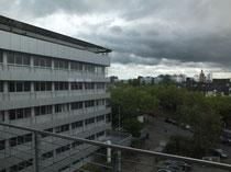 Blick vom obersten Stockwerk