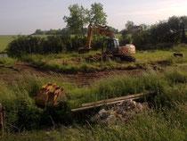 Le terrassement les 2 et 3 juin 2012