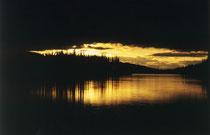 Teslin River um Mitternacht
