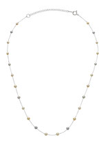 "EBNSRI-151: Rare multicolor Baby Akoya pearl necklace finished in 14k white gold (Akoya pearl- 3-4mm | 16-17.5"" adj.), $270"
