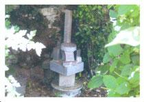 Jardin du Presbytère. Sculpture de SERVIN