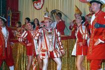März 2009 - Karnevalsprinz Stefan I. erlebte eine harte Session, nachdem er bei der Generalprobe zur Prinzenkürung umgeknickt war und wochenlang nur humpeln konnte. Aber er hielt durch - und zum Höhepunkt des Karnevals war er ganz der Alte.