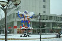 Januar 2005 - Kurz nach Weihnachten fiel doch noch eine Menge Schnee, taute danach allerdings auch sofort wieder weg.