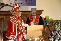 März 2015 - Karnevalsprinz Thomas I. übernahm für einen Tag das Rathaus von OB Sören Link, der als Zirkusdirektor nur scheinbar alles im Griff hatte. Nach dem Rosenmontagszug bei strahlendem Sonnenschein kehrte jedoch der Alltag viel zu schnell wieder ein