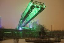 Januar 2010 - Kurz vor Weihnachten verwandelte sich Duisburg in eine Winterlandschaft. Bei heftigem Schneefall erschien der Landschaftspark Nord in einer eigenartigen Stimmung.