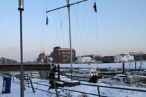 Innenhafen - Blick zum Portsmouth-Damm