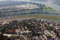 Ruhrort und die Hafeneinfahrten.